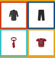flat icon dress set of cravat t-shirt pants and vector image vector image