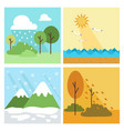 four season background vector image vector image