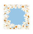 frame made of popcorn over the light blue vector image vector image