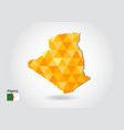 geometric polygonal style map of algeria low poly vector image