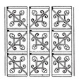 german renaissance pattern is a net design vector image vector image