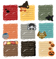 halloween sticky note vector image vector image