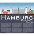 Hamburg Skyline with Gray Buildings vector image vector image