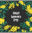 happy women s day festive wish surrounded by vector image