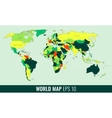 High Detail World Map vector image vector image