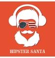 Hipster Santa Claus character vector image vector image