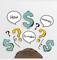 how to make money dollar signs vector image