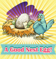 Idiom good nest egg vector image vector image