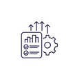 increase productivity line icon vector image vector image