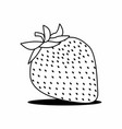 isolated strawberry vector image vector image