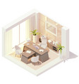 isometric ceo office interior vector image