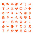 life icons vector image vector image