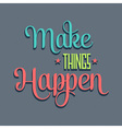 make things 7 vector image