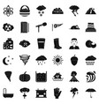 meteorology icons set simple style vector image vector image