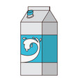 milk carton icon in colorful silhouette with thin vector image