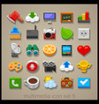 multimedia icon set-5 vector image