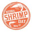 national shrimp day grunge rubber stamp vector image vector image