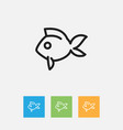 of animal symbol on fish vector image vector image