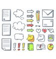 office paper and documents marks icons set vector image vector image