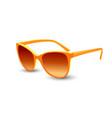 orange sunglasses realistic graphic vector image