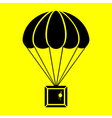 parachute with the parcel vector image vector image