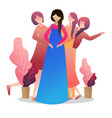 pregnant woman with her friends and presents vector image vector image