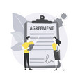 purchase agreement abstract concept vector image vector image