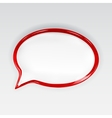Red glossy speech bubble