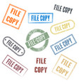 set stamps file copy vector image vector image