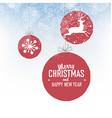Shiny Xmas ball with deer for Merry Christmas vector image