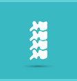 spine diagnostics symbol design vector image vector image