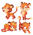 tiger cub cute character hunting slink and roar