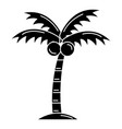 tree palm beach isolated icon vector image vector image