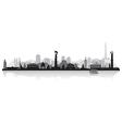 Vladivostok Russia city skyline silhouette vector image vector image