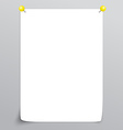White Empty paper sheet vector image vector image