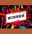 winner text vector image vector image