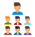 young man avatar collection vector image vector image