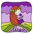 Zodiac signs Virgo vector image vector image