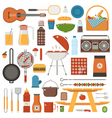 Barbecue and Picnic Set vector image