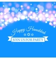 Happy Hanukkah greeting card with hand-drawn vector image