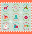 icons for christmas and new year vector image