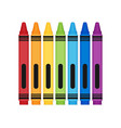 rayons color set flat vector image