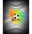 Abstract background with soccer ball vector image vector image