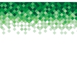 Abstract triangle mosaic green background design vector image vector image