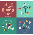 Acupuncture Composition Icon Set vector image vector image