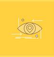 advanced future gen science technology eye flat vector image vector image