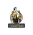 American Football Divisional Champions Retro vector image vector image
