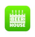 beer icon green vector image vector image