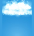 blue sky realistic blur design abstract shining vector image vector image