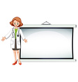 Board template with doctor standing vector image